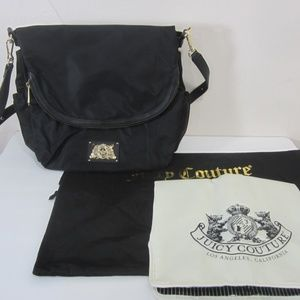 Juicy Couture Baby Diaper Bag Black Nylon
